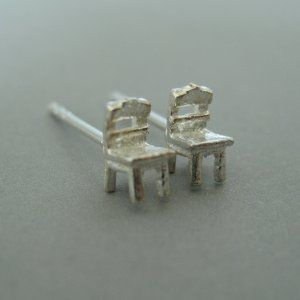 Sterling Silver Chair Stud Earrings Ec463 Sterling Silver Earrings Studs Stud Earrings Silver Earrings Studs