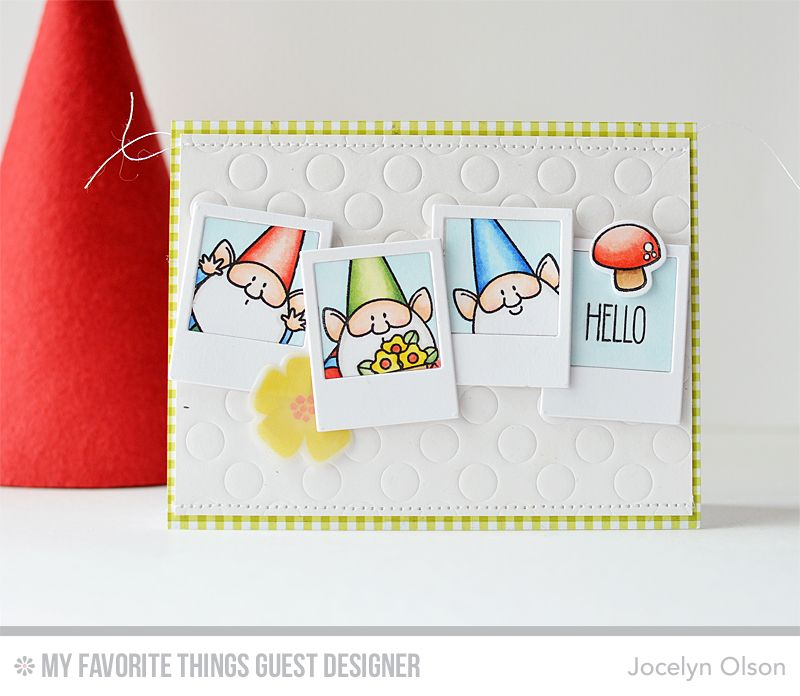 Modern blooms you gnome me modern blooms die namics polka dot birdie brown you gnome me friendship card friends forever gnome card bookmarktalkfo Image collections