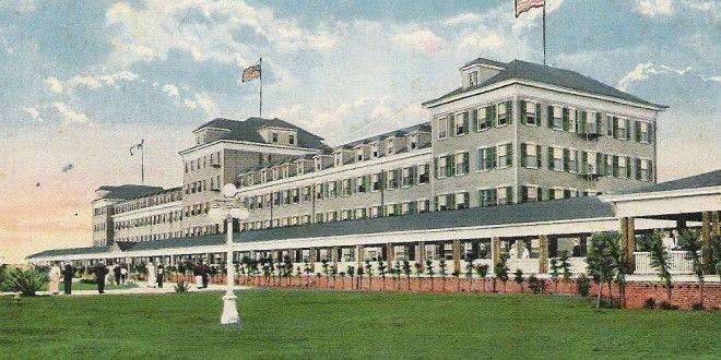 Atlantic Beach Hotel Old Postcard C Jan 1919 Copy