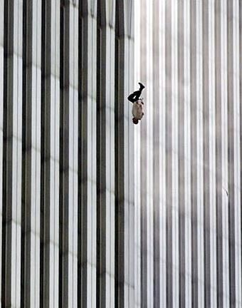 'The Falling Man' - photo of an unidentified 9/11 victim, taken by Associated Press photographer Richard Drew: