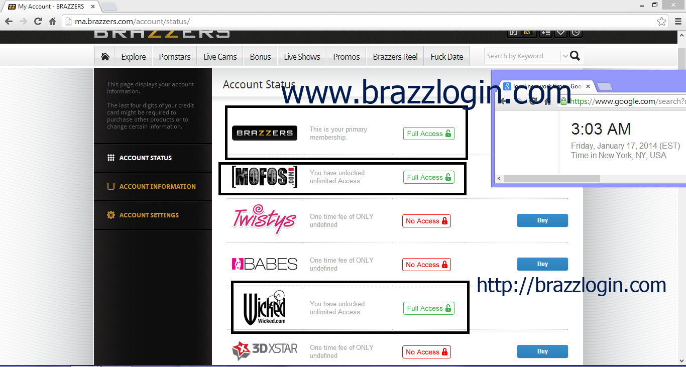 How to get brazzers account for free upload
