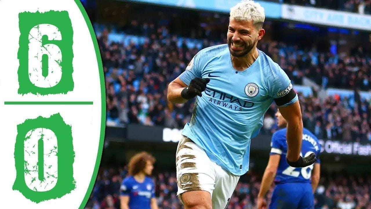 Manchester City Vs Chelsea Highlights 6 0 English Commentary 10 2 2019 Manchester City Manchester Youtube