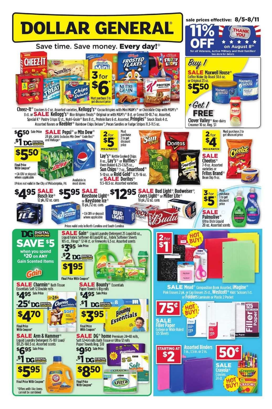 Dollar General Weekly Ad Flyer January 20 26 2019 Weeklyad123