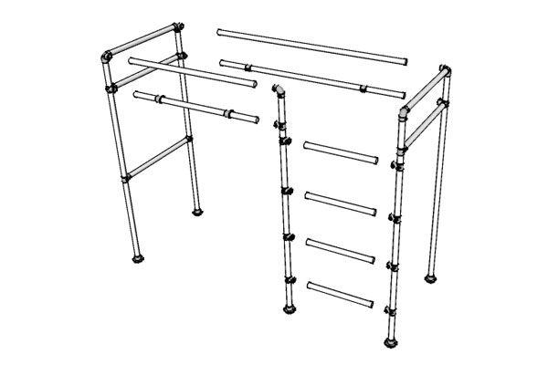 Loft Bed Frame Drawing | For aiden | Pinterest | Loft bed frame, Bed ...