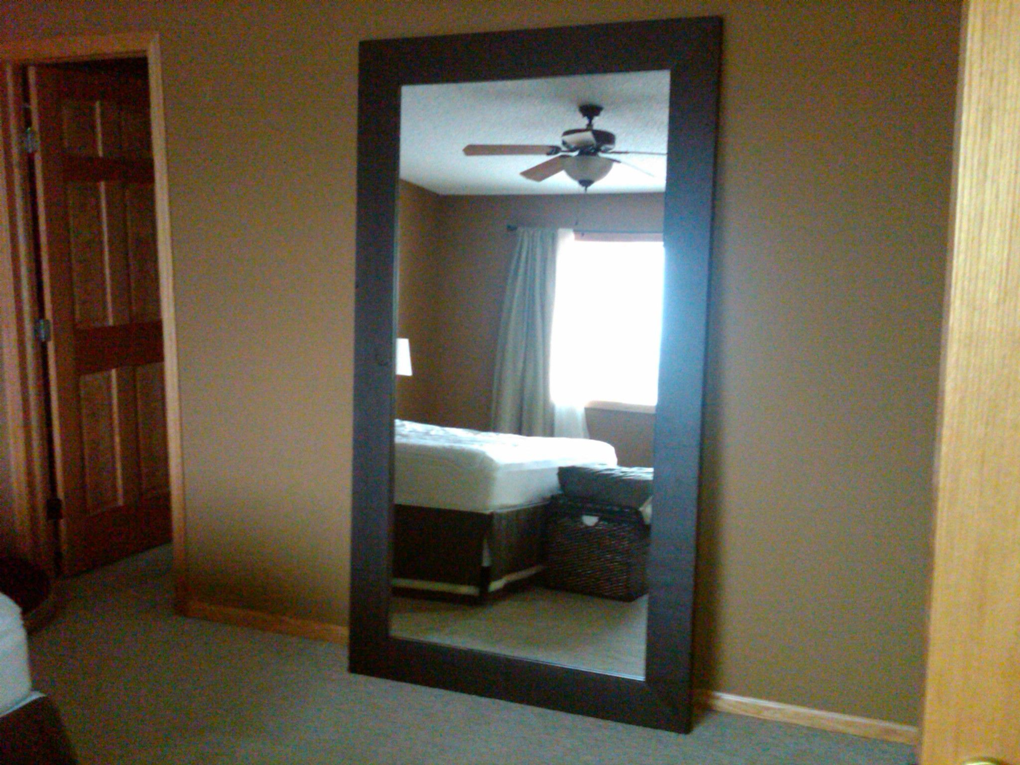 Floor mirror with thick wood frame our bedroom pinterest floor mirror with thick wood frame jeuxipadfo Gallery
