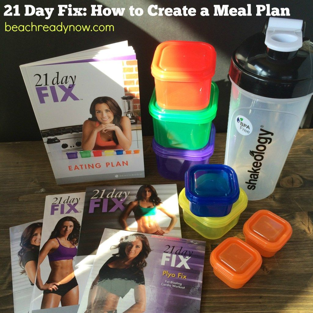 21 day fix. How to create a meal plan