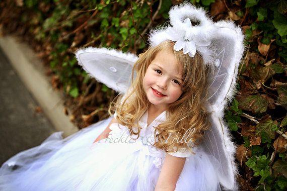 Pretty tulle tutu dress for angel and devil Halloween costume kids - angel halloween costume ideas