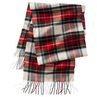 tartan plaid scarf from Target