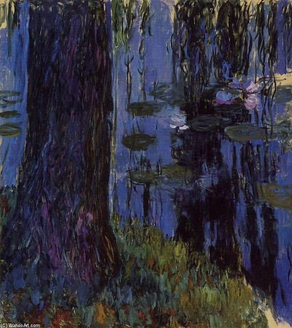 Claude Monet - Weeping Willow and Water-Lily Pond 1