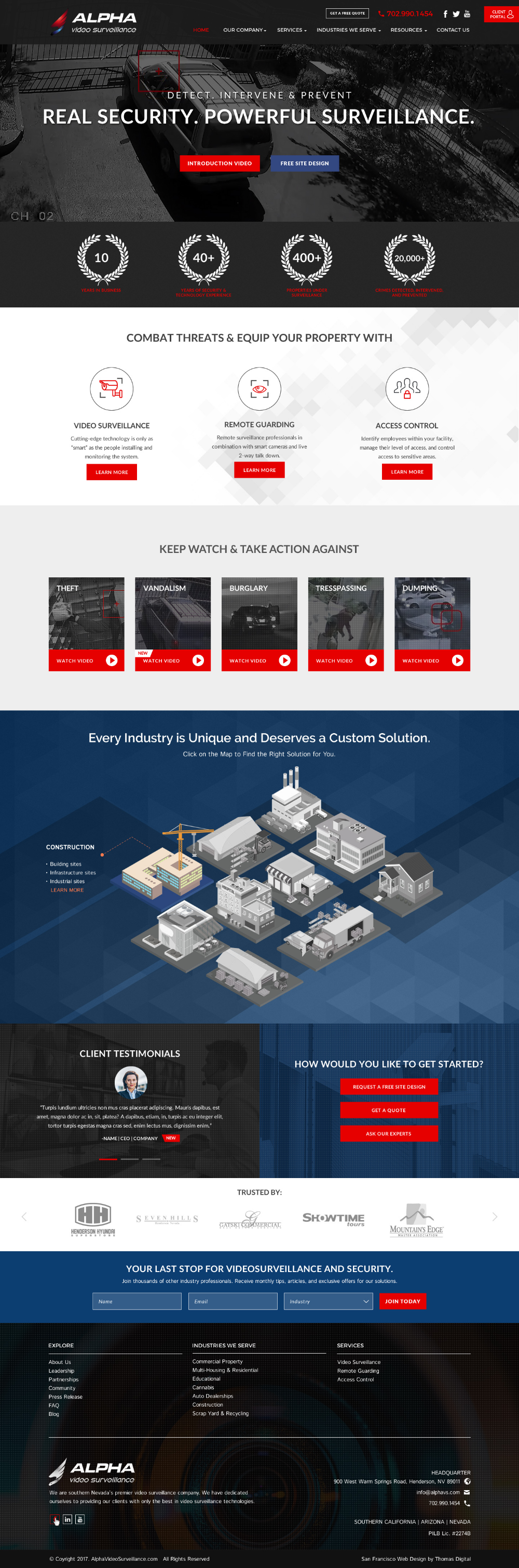 Alpha Video Surveillance Web Design Web Design Firm Web Design Company