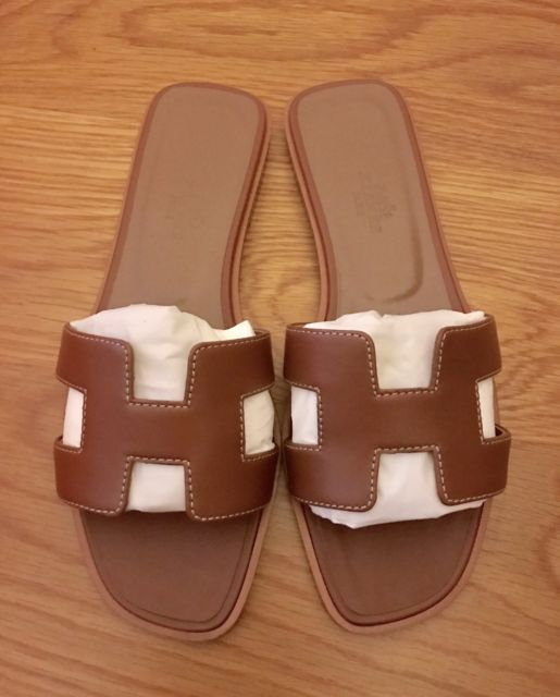 36 6 Oran Shoez Brown Sandals 5 Luggage Hermes Bnib 5Ebay Gold 0Ok8nXwP
