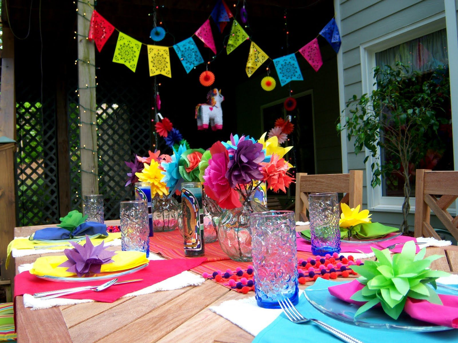 Pool party themes on pinterest mexican fiesta party for Mexican party decorations