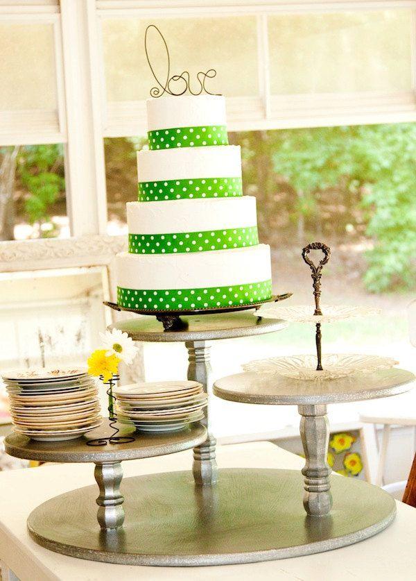 rustic chic wedding cake display - Google Search