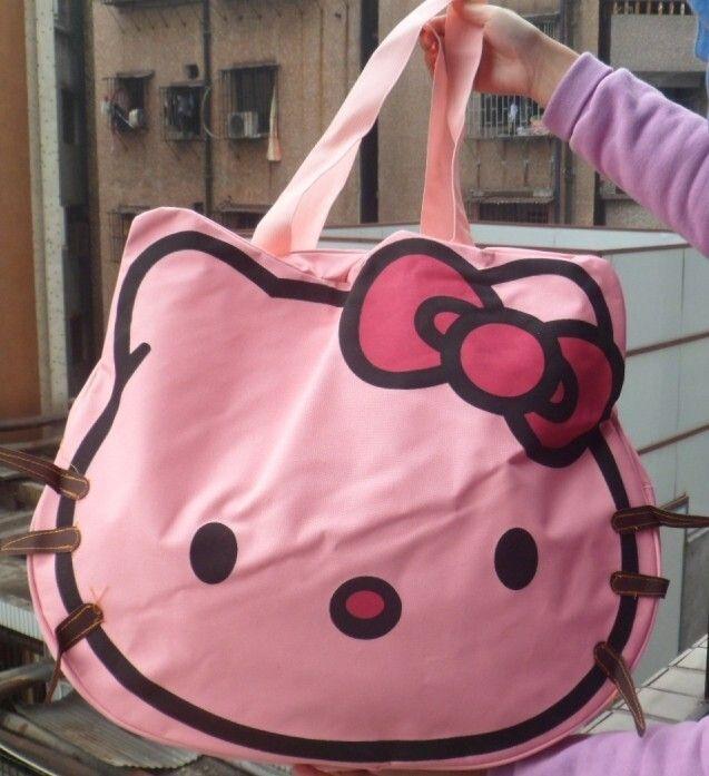 d18b951375 Women Clutch Hello Kitty Tote Bag Classic Head Style Handbag Large Capacity  Canvas Bag Casual Shoulder Bag Cute Cartoon Handbags