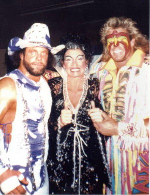 Ultimate Warrior Macho Man Randy Savage Sensational Sherry Wcw Wrestlers Wrestling Superstars Macho Man Randy Savage