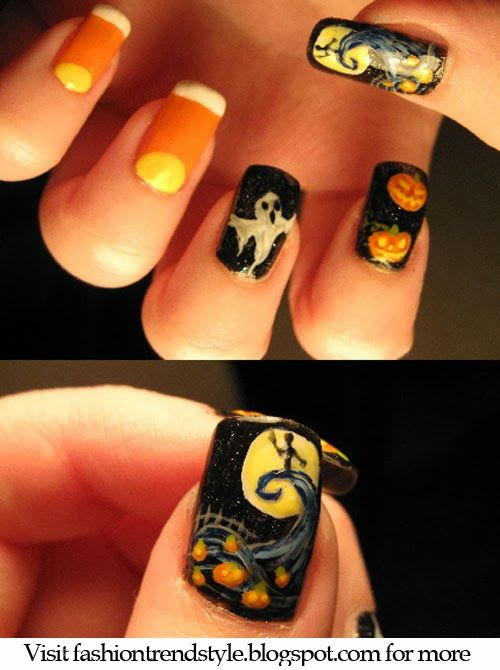 Halloween Easy Nail Art Video Tutorials 2 Nail Nailart