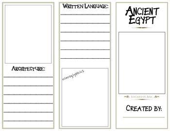 ancient egypt brochure - Egypt Brochure Templates