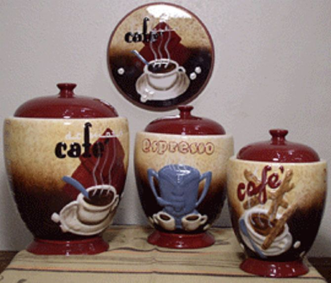 Kitchen Wall Decoration Coffee Decor For Cup Concept House Accessories Canisters Themes