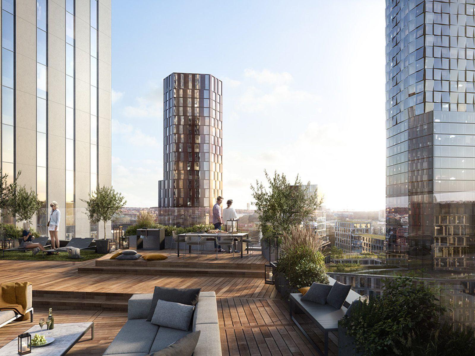 Luxuswohnung In Munchen Architektur Visualisierung Wolkenkratzer Fassadengestaltung