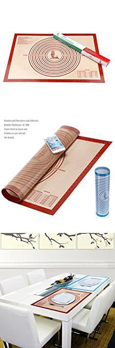Pastry Rolling Mat Non Slip Silicone Pastry Mat Extra Large With