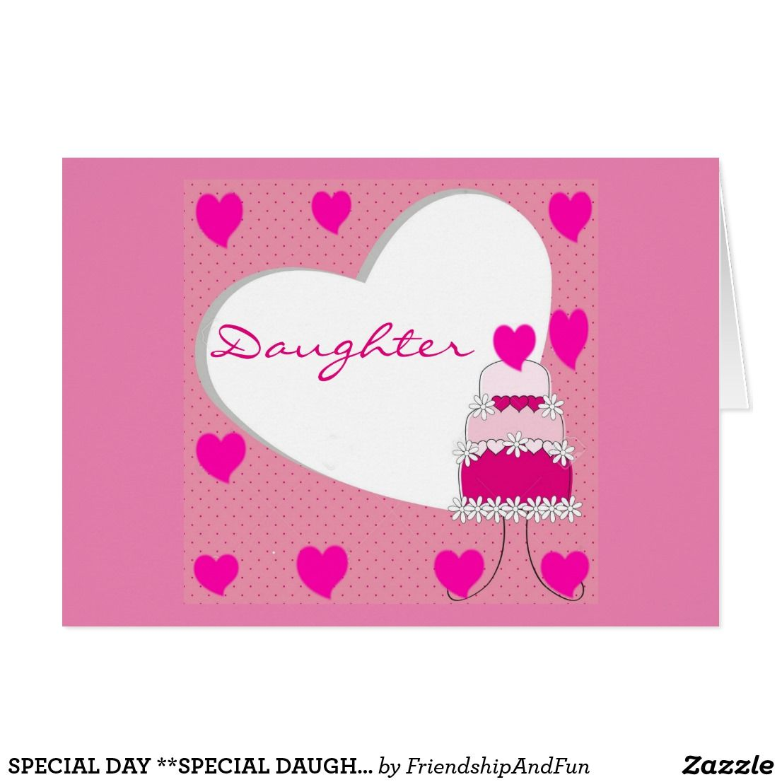 Special Day Special Daughter Happy Birthday Card Greeting