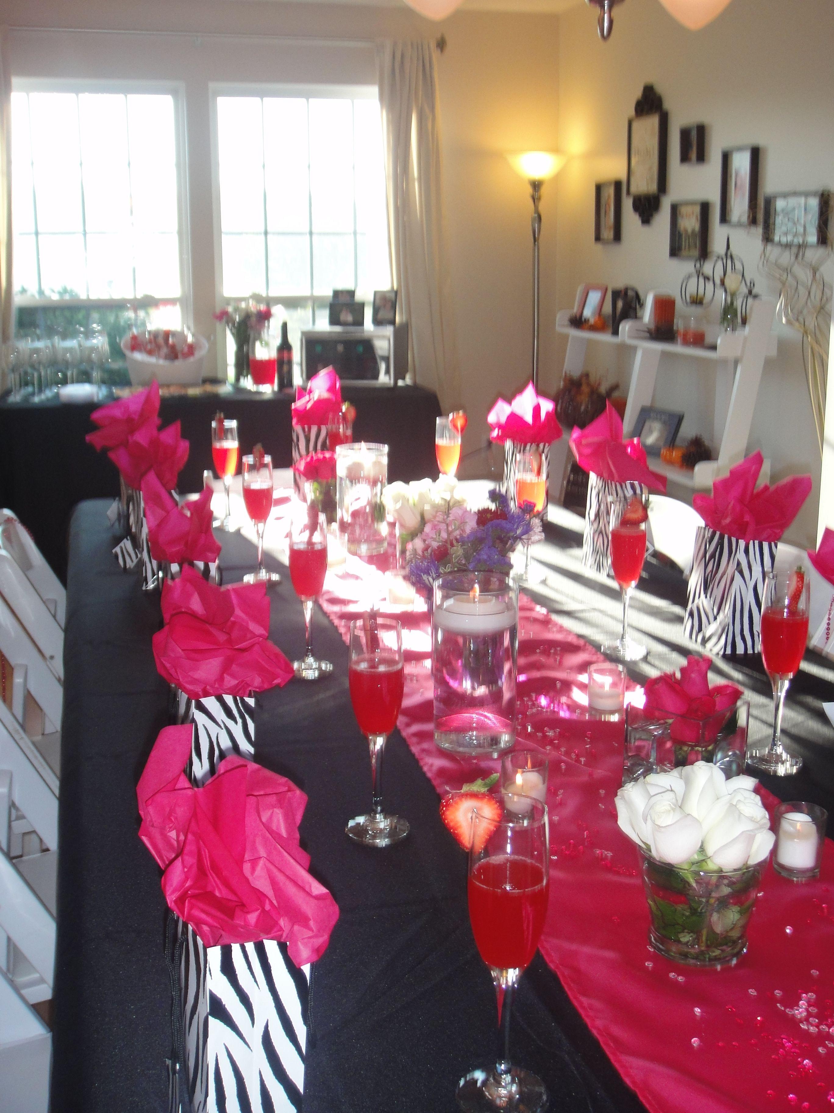 Hot pink and zebra print bridal showerturned out just like i was hot pink and zebra print bridal showerturned out just like i was junglespirit Gallery