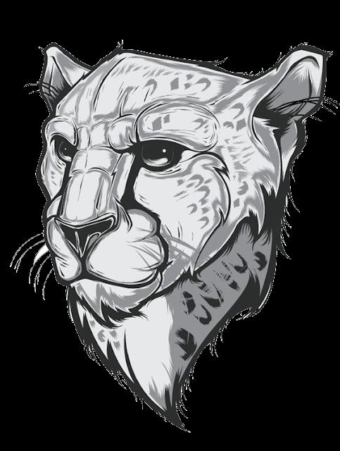 Leopard Tiger Black Panther Clip Art Leopard Cheetah Free Png Image Art Illustration Animal Art