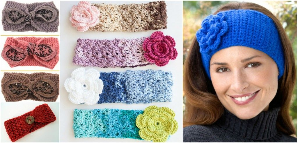 How To Crochet Cozy Posy Headbands | headband | Pinterest