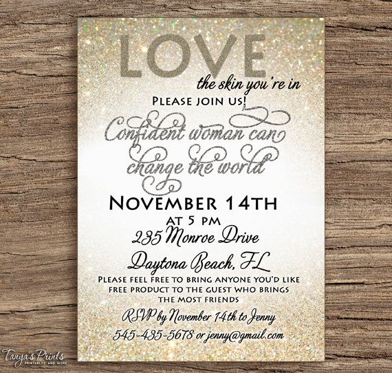 Rodan And Fields Party Invitation Diy Printable By Tanyasprints