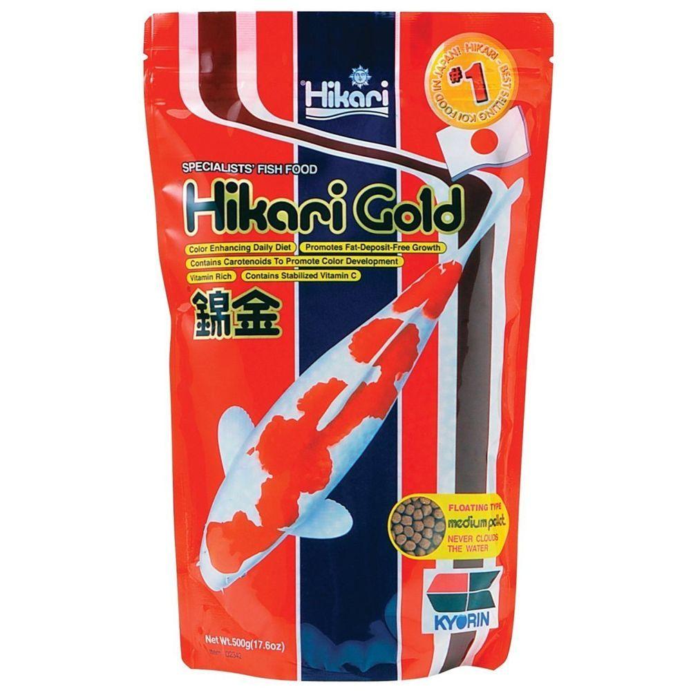 Hikari gold floating medium pellets for koi pond fishes 17