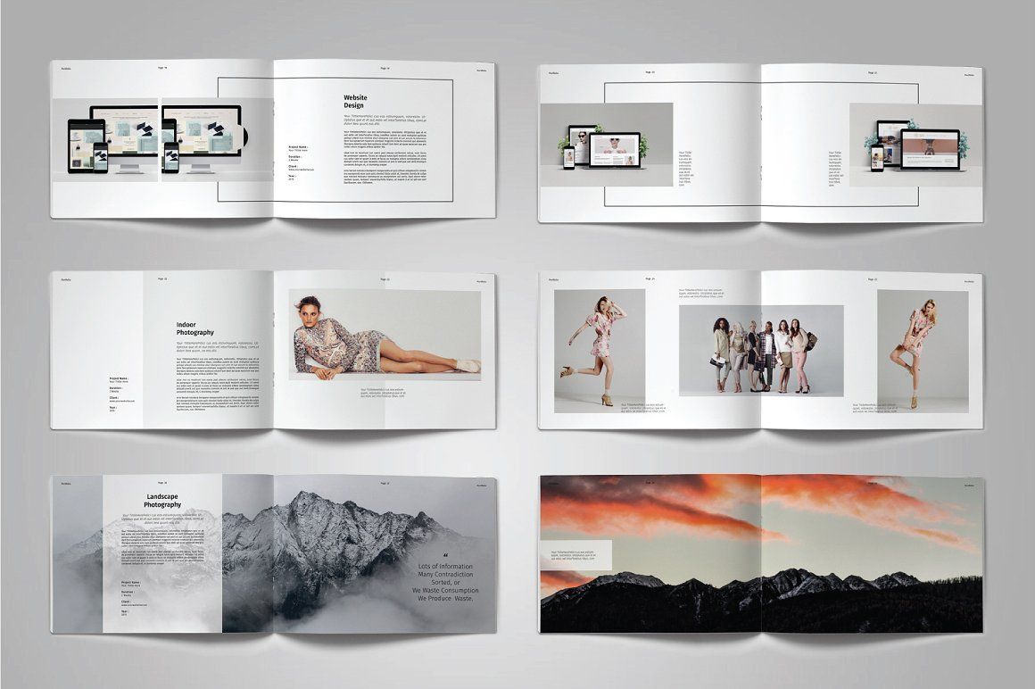 Landscape Portfolio Template Vol 7 With Images Portfolio Templates Print Design Template Portfolio Layout
