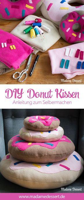 DIY Donut Kissen – Anleitung zum Selbermachen #diyundselbermachen