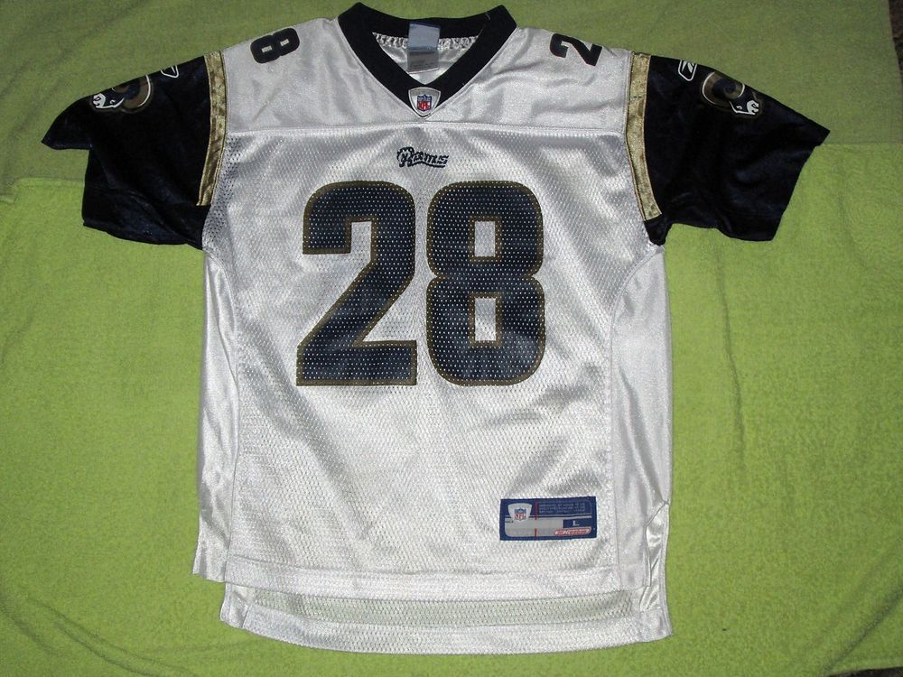 3dcd8e668 Marshall Faulk St Louis Rams football jersey youth large NFL  Reebok   StLouisRams