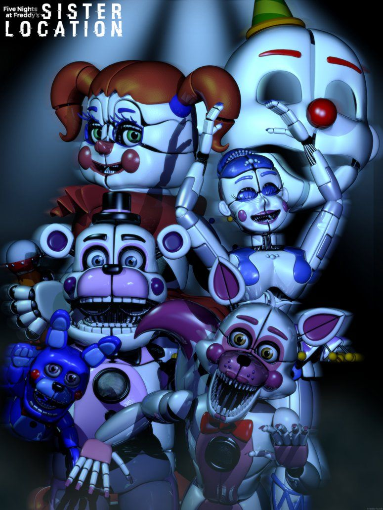 C4d Sister Location In The Circus Of The Dead By Https Www Deviantart Com The Smileyy On Deviantart Fnaf Wallpapers Anime Fnaf Fnaf