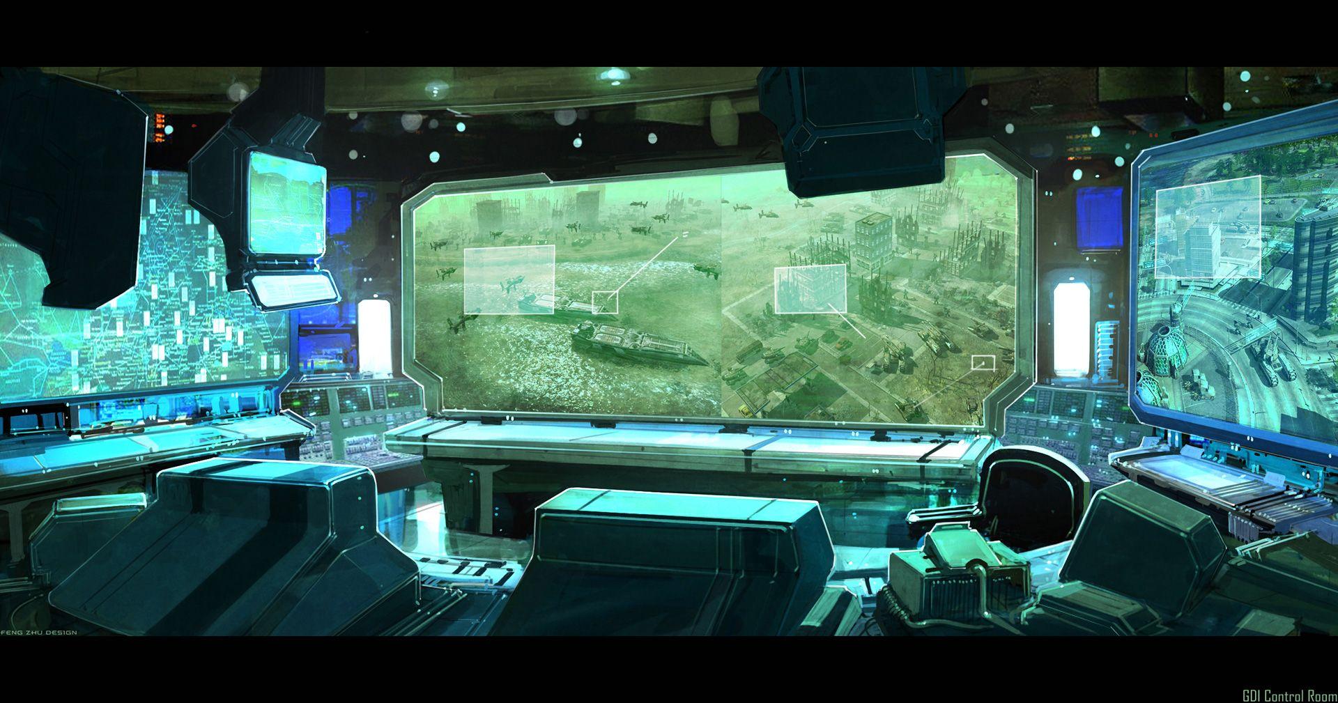 Control room concept cerca amb google control room for Futuristic control room