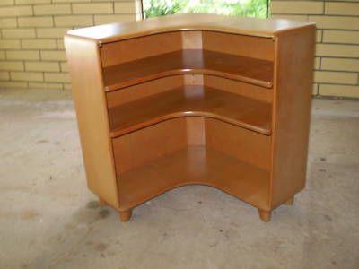 Superb (8 Bids) HEYWOOD WAKEFIELD #M322 CORNER. WakefieldMid CenturyBookcases Nice Design