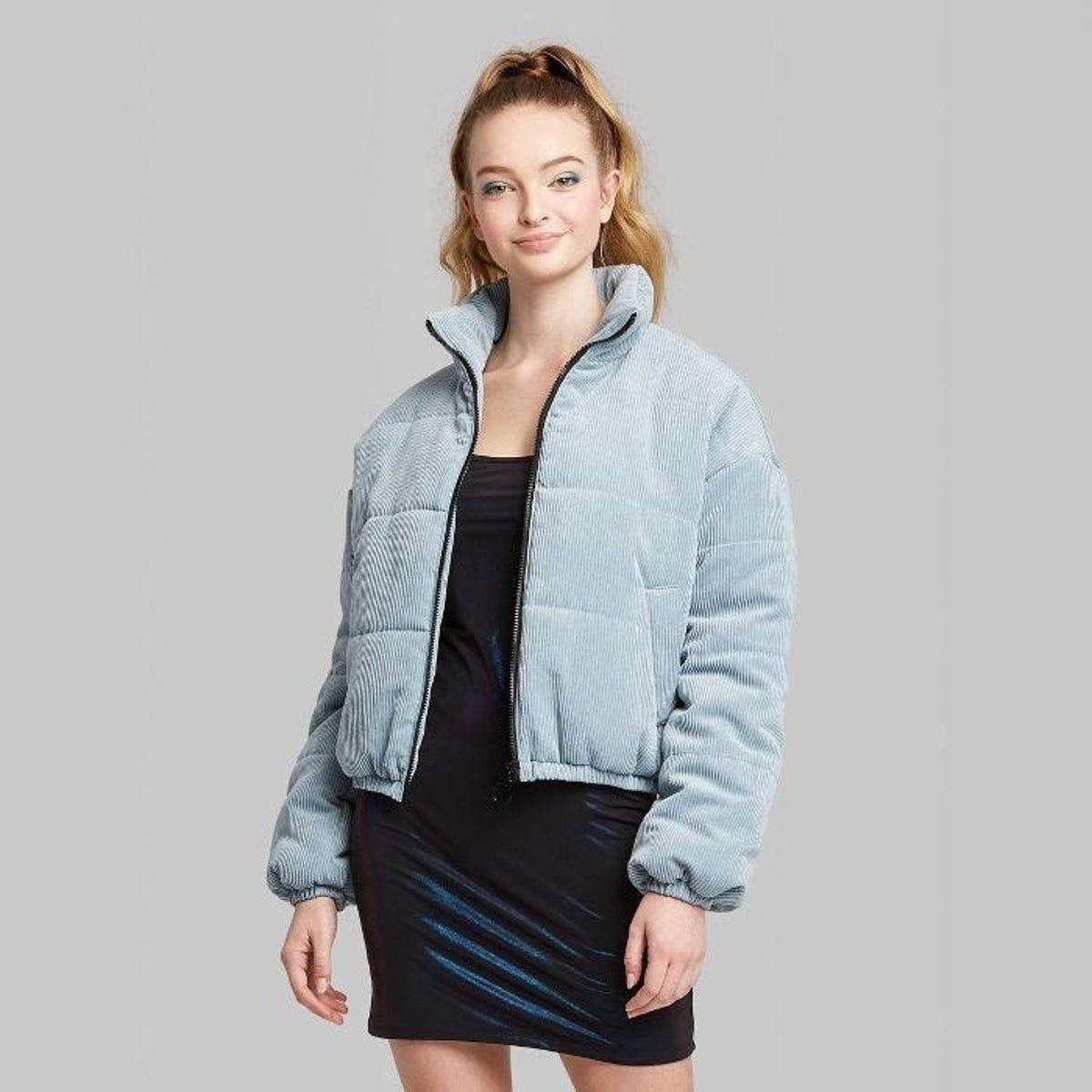 Corduroy Zip Up Puffer Jacket Puffer Jacket Women Blue Puffer Jacket Puffer Jackets [ 1200 x 1200 Pixel ]