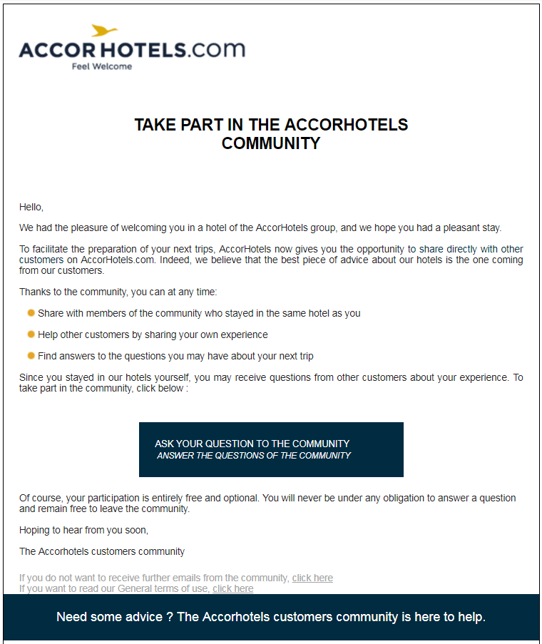 Le Club Accorhotels Has Launched Customer Community To Get Customers Help And Share Their Experiences About Hotels