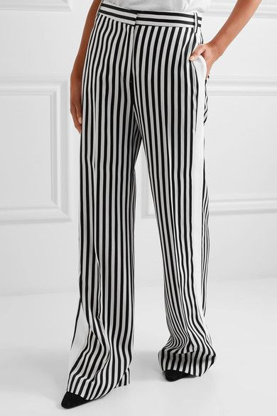Striped wide trousers Victoria Beckham X0kNTgtd