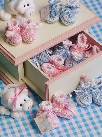 10 - Souvenirs Escarpines - Crochet Souvenirs