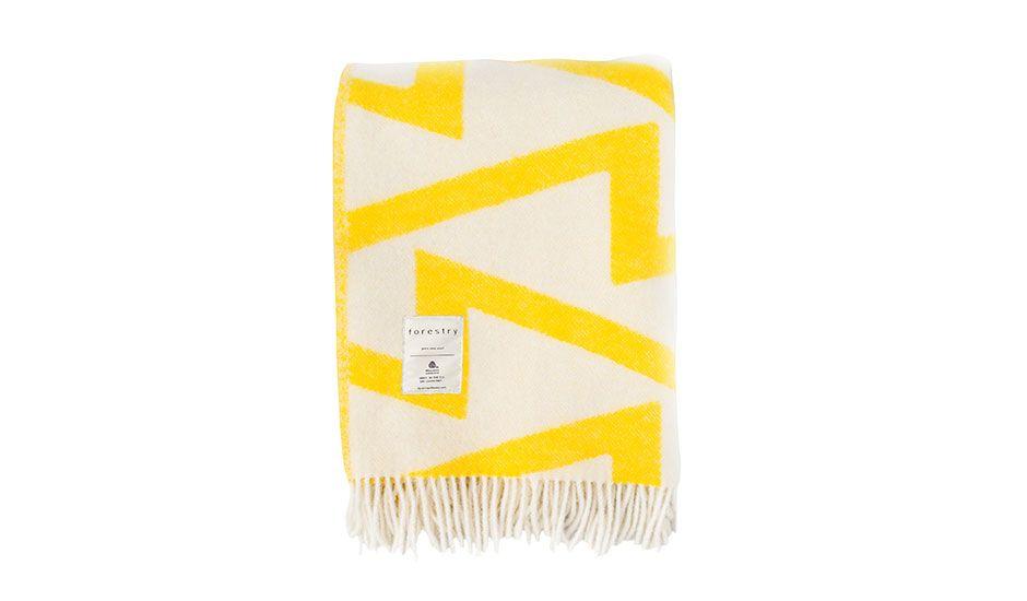 Decke Aus Baumwolle Safrangelb 160x210 Baumwolle Gelb Und Uberwurf