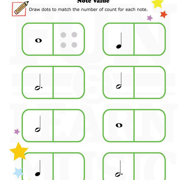 Do you need a fun note value worksheet for your students – Value Worksheet