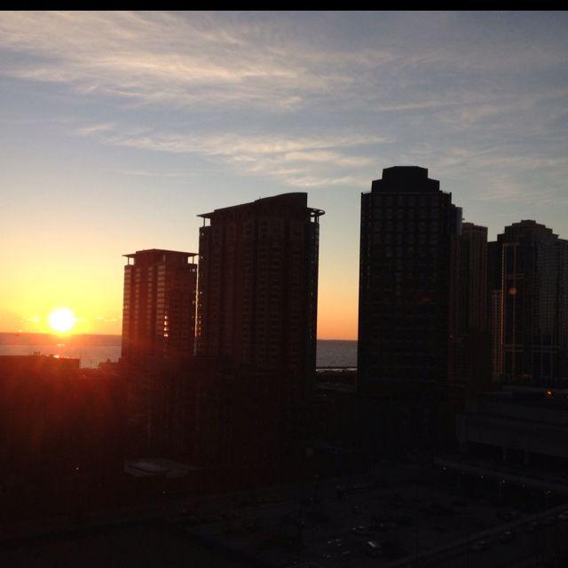 A Beautiful Chicago Sunrise