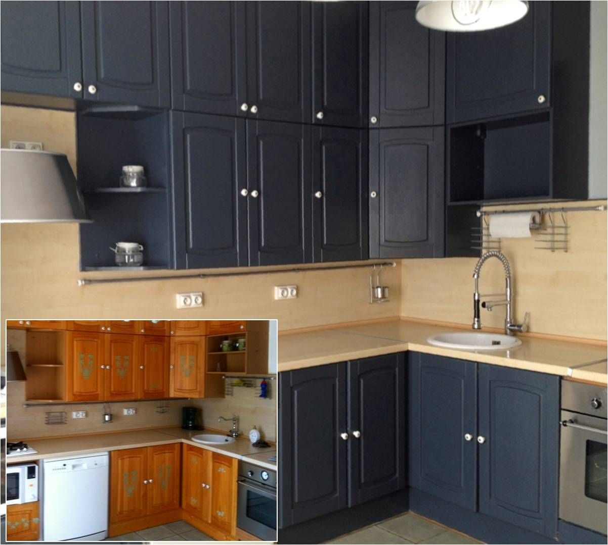 Cuisine Avant Apr S Satinelle Anthracite Relooking