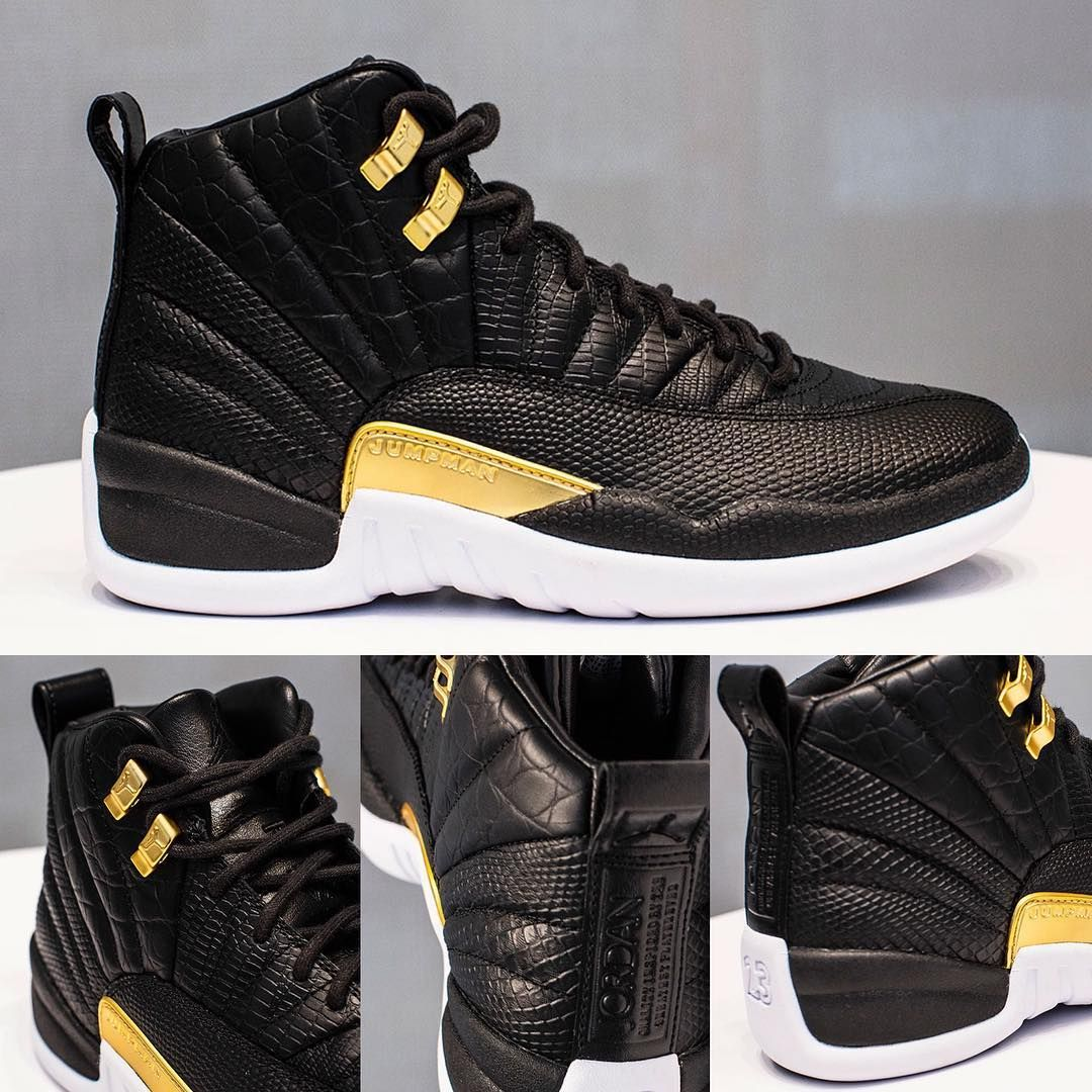 sale retailer e9fea 2154a FIRST LOOK: 2019 WMNS Air Jordan Retro 12 #Reptile Black ...