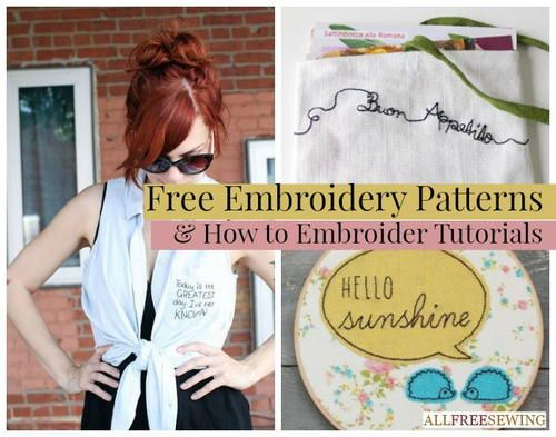 Free Embroidery Patterns and How to Embroider Tutorials
