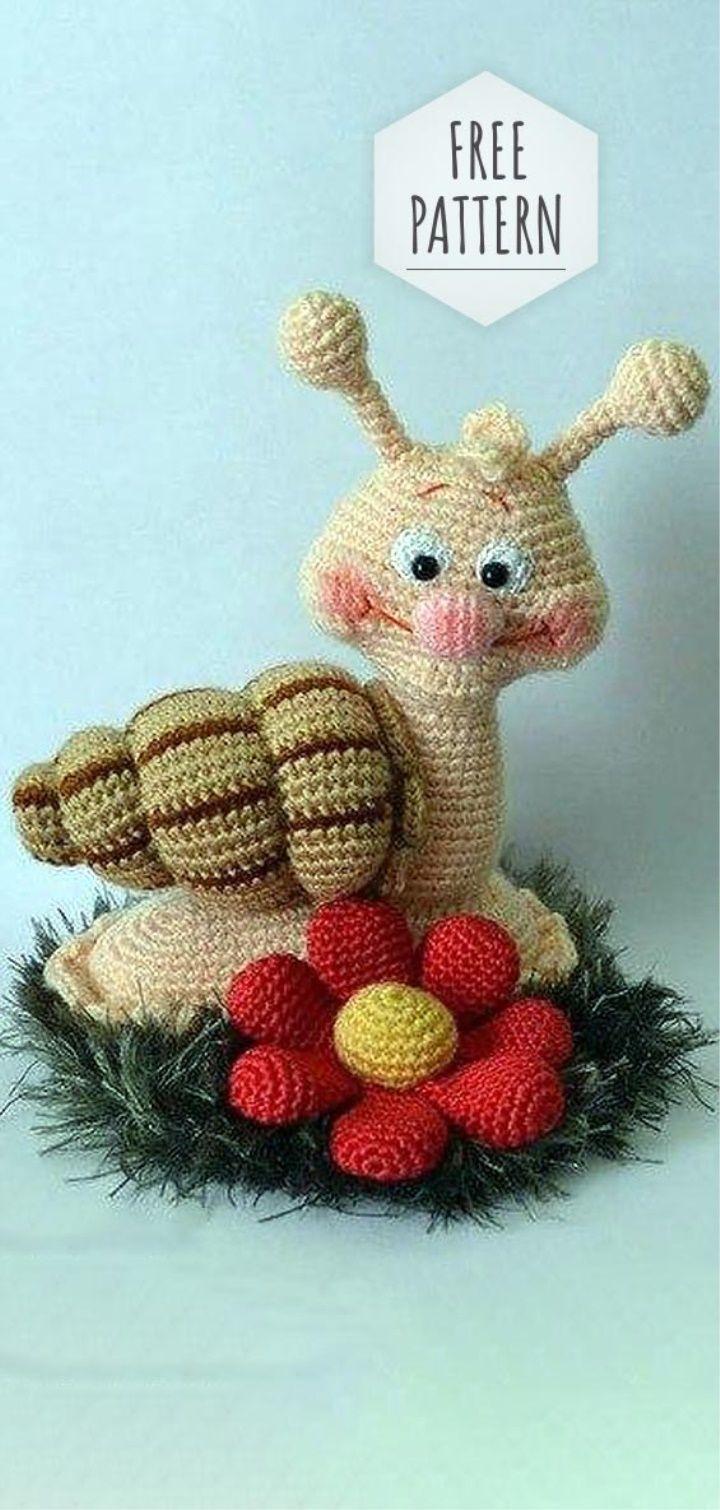 Amigurumi Snail Free Pattern #crochet #amigurumi #häkeln # ...