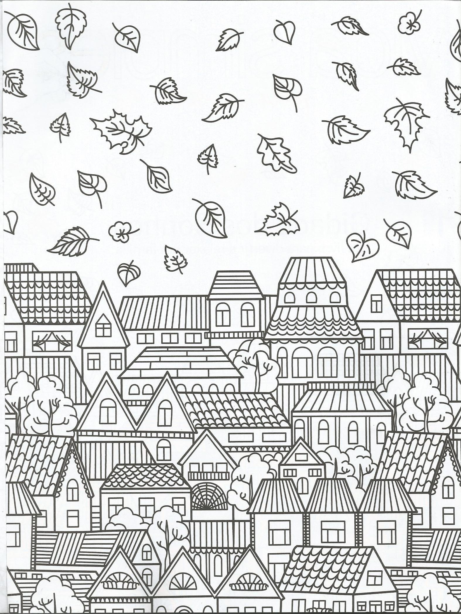 Townscape coloring page Vida Simples Cidade dos Sonhos