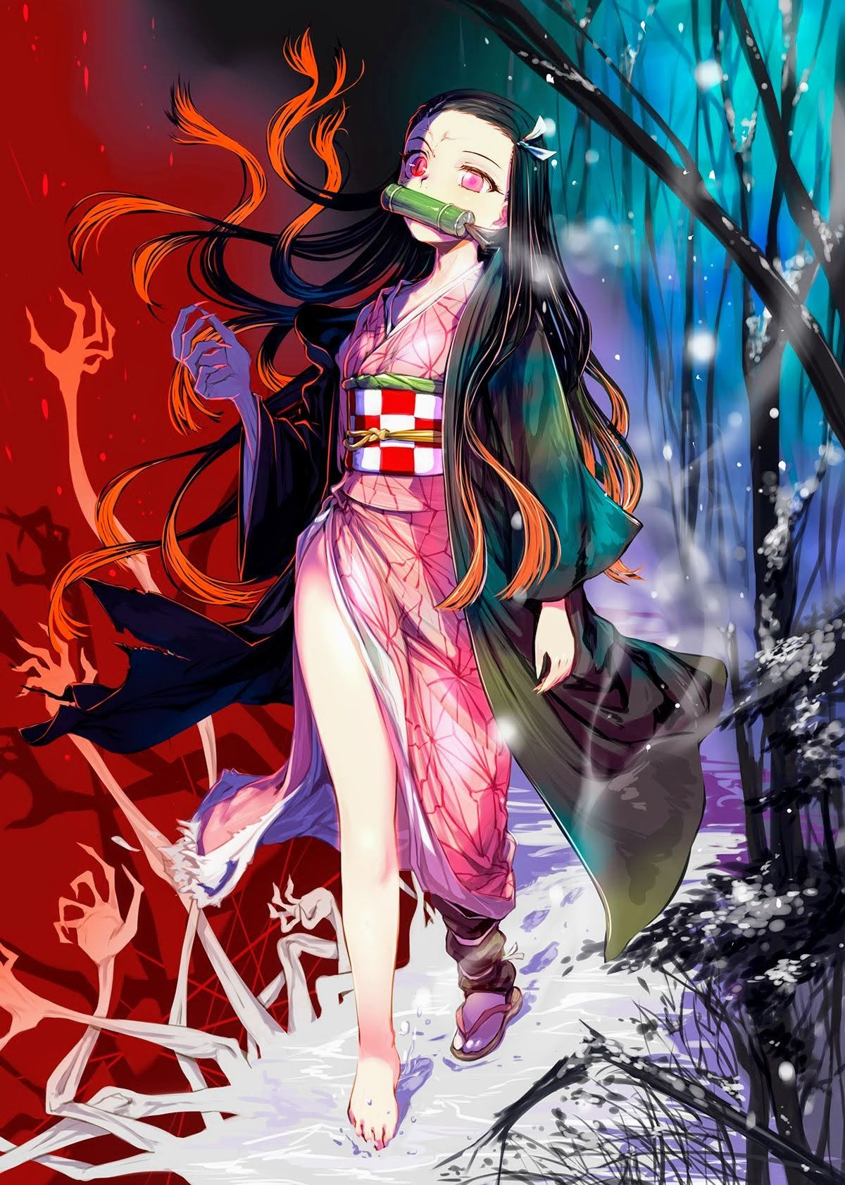 Nezuko Kamado Kimetsu no Yaiba fanart manga anime
