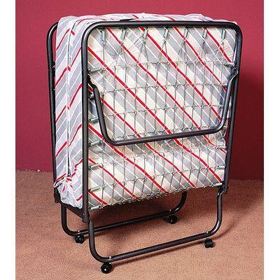 Best Alwyn Home Arely Black Twin Folding Bed Folding Beds 400 x 300